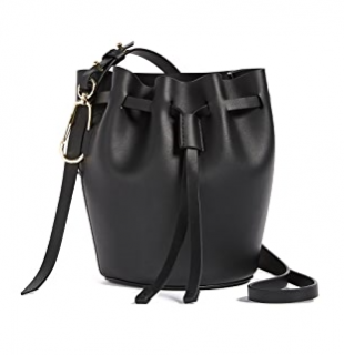 Zac Posen Belay Black Drawstring Bag