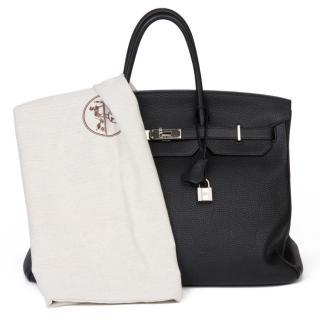 Hermes 40cms Birkin in black togo leather