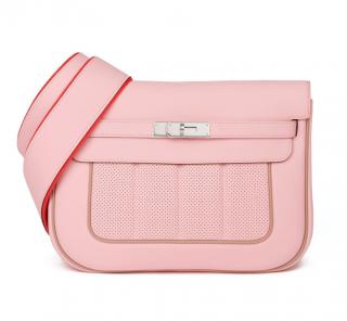 Hermes Swift Leather Argile/Rose Sakura Berline Tote Bag
