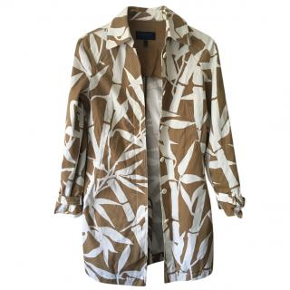 Escada Brown & White Printed Jacket