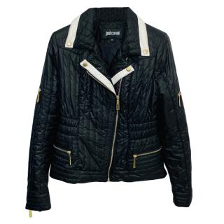 Just Cavalli Black & White Quilted Jacket