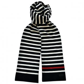 Saint Laurent striped knitted wool scarf