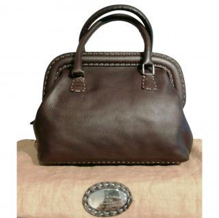 Fendi brown leather Selleria Doctor's Bag