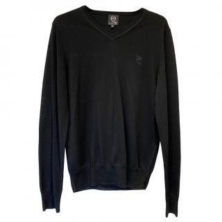 McQ by Alexander McQueen Black V-Neck Jumper