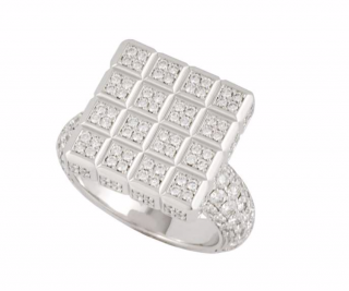Chopard White Gold Diamond Check Ring