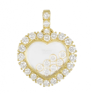 Chopard Yellow Gold Diamonds Heart Pendant