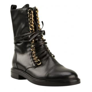 Casadei Rock Lace-Up Boots