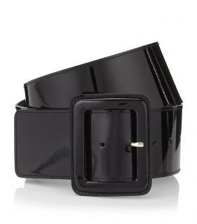 Miu Miu black patent waist belt
