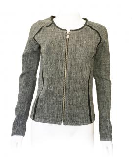 Maison Scotch tweed black & white jacket
