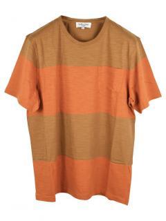 YMC Orange Striped Men's Shirt