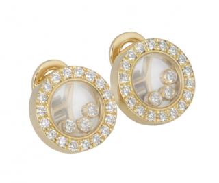 Chopard Yellow Gold Happy Diamonds Earrings