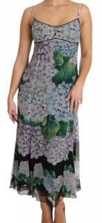 Dolce & Gabbana Hortensia print silk slip midi dress