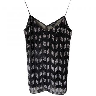 Cushnie Et Ochs embroidered black camisole top