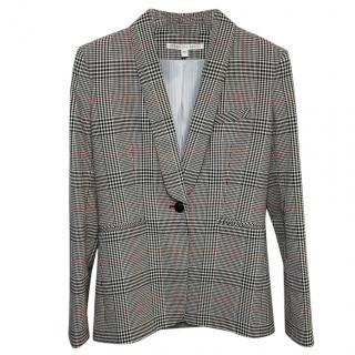 Veronica Beard houndstooth print blazer jacket