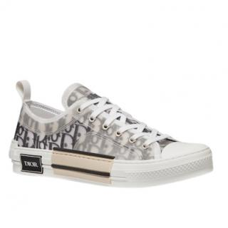 Dior B23 Oblique white and grey logo sneakers trainers