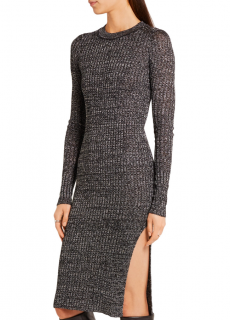 Isabel Marant metallic ribbed-knit dakota dress