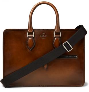 Berluti Brown Un Jour Venezia Leather Briefcase