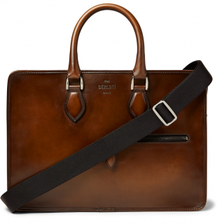 Berluti Brown Un Jour Venezia Leather Briefcase