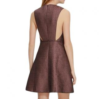 Maje Rose Gold Lurex Knit Rony Mini Dress