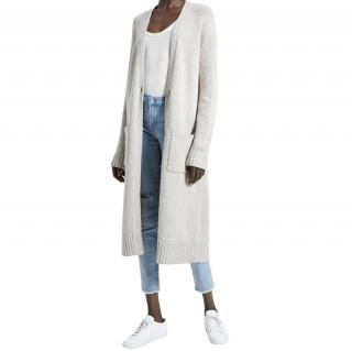 Theory Grey Wool Duster Cardigan