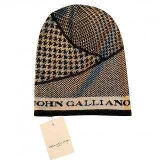 John Galliano Kid's Multi-Houndstooth Print Beanie