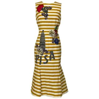Dolce&Gabbana Yellow Striped Pisa Dress