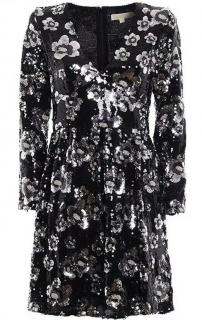 Michela Michael Kors embellished floral dress