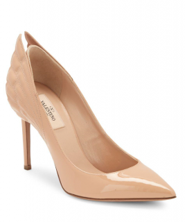 Valentino Winged Leather Slip-on Pumps