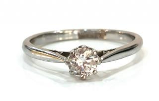 Bespoke 0.4ct diamond solitaire ring