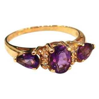 Bespoke amethyst and diamond cocktail ring