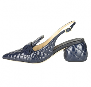 Anya HIndmarch Patent Quilted Sandals