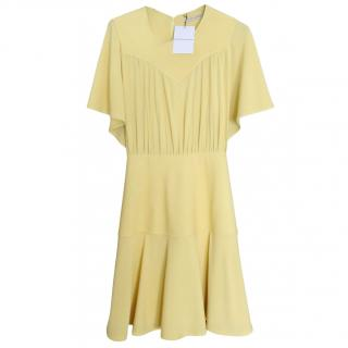 Balenciaga buttercup yellow mid length dress