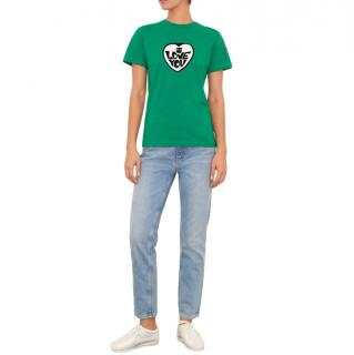 Bella Freud green I love You t shirt