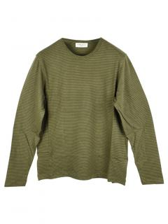 You Must Create Green striped long sleeved top