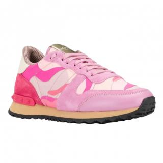 Valentino pink camo rockstud trainers