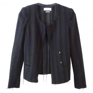 Isabel Marant Striped Distressed Jacket