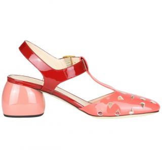 Anya Hindmarch Slingback Coral Sandals
