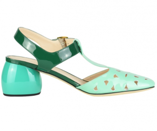 Anya Hindmarch Green Cut-Out Sandals