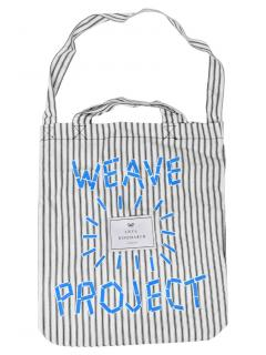 Anya Hindmarch Weave Project Embroidered Striped Tote Bag