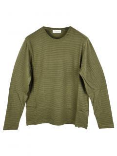 YMC Men's Striped Green Sweatshirt