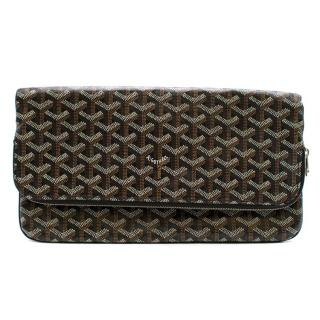 Goyard Sainte Marie Soft Clutch in Black Chevron