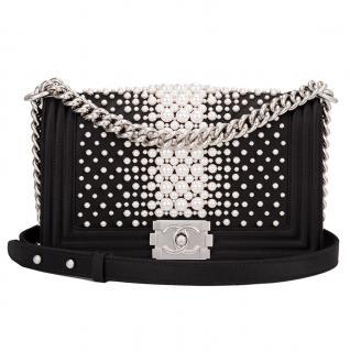 Chanel Runway Pearl Embellished Medium Boy Bag
