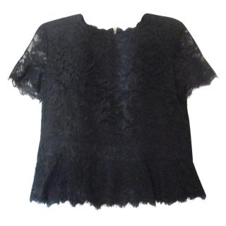 Emilio Pucci Black Lace Top