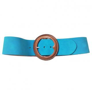 Ralph Lauren Turquoise suede wide belt