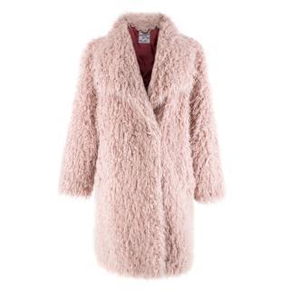 Baum und Pferdgarten Pink Shaggy Faux Fur Coat