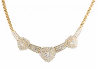 Bespoke Yellow Gold Diamond Set Necklace