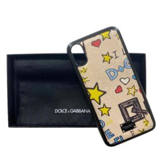Dolce & Gabbana iPhone X Graffiti Phone Case
