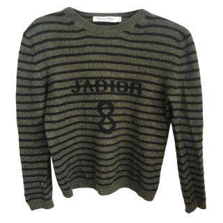 Dior Green Striped J'adior 8 Jumper