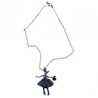 Servane Gaxotte Black Crystal Doll Pendant Necklace