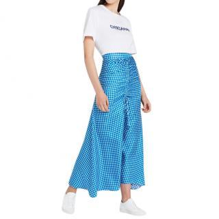 Paper London Islamorada Silk Ruched Skirt in Twillseeker